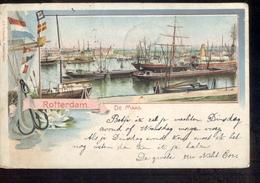 Rotterdam - De Maas - Litho - 1901 - Zoetermeer Grootrond  Delft - Rotterdam