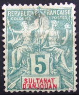 ANJOUAN                    N° 4                    NEUF SANS GOMME - Anjouan (1892-1912)