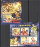 ST364 2016 SIERRA LEONE 50TH MEMMORIAL ANNIVERSARY OF WALT DISNEY KB+BL MNH - Disney