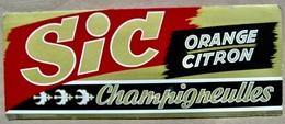 CARTON SIC ORANGE CITRON CHAMPIGNEULLES ( BRASSERIE BIERE BIERES ) / MARCEL JOST STRASBOURG-ILLKIRCH - Pappschilder