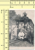 REAL PHOTO People On Railroad, Train Yugoslavia Railway ORIGINAL VINTAGE SNAPSHOT PHOTOGRAPH - Trenes