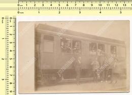 REAL PHOTO 1920's People On Train Station Railways Railroad, Yugoslavia? ORIGINAL VINTAGE SNAPSHOT PHOTOGRAPH - Treni