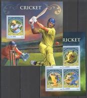 ST381 2016 SIERRA LEONE SPORT CRICKET KB+BL MNH - Cricket