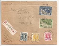 Reco Herbesthal 16.12.27.Prague Tarief Van 1.5.27 Met O.a.Caritas 5c+10c No.249-250 + Houyoux 1F No.205 - Briefe U. Dokumente