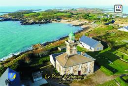 Set 6 Cartes Postales, Phares, Lighthouses Of Europe, France, Granville, Le Phare De Chausey - Leuchttürme