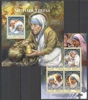 ST395 2016 SIERRA LEONE FAMOUS PEOPLE MOTHER TERESA KB+BL MNH - Mutter Teresa