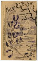 RC 14962 FRANCE WWII ILLUSTRATION BONNE ANNÉE DESSIN SUR CARTE DE FRANCHISE MILITAIRE - Postmark Collection (Covers)