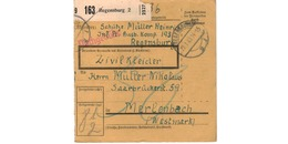 ALLEMAGNE  /  COLIS-POSTAL  /  De Regensburg - Brieven En Documenten