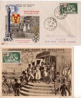 Algérie - FdC (1er Jour), CaD Temporaire : Légion D'Honneur - 3 Documents - Cartas