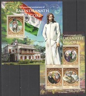 ST406 2016 SIERRA LEONE 75TH MEMORIAL ANNIVERSARY OF WRITER RABINDRANAT TAGORE KB+BL MNH - Ecrivains