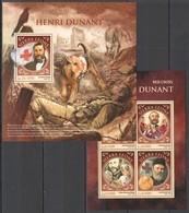 ST408 2016 SIERRA LEONE RED CROSS FAMOUS HENRI DUNANT KB+BL MNH - Henry Dunant