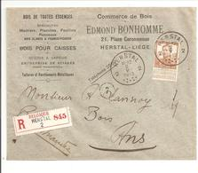 Reco Herstal 2.5.13>Ans Pellens 35c Enkel/seul. PUB: COMMERCE DE BOIS - 1912 Pellens