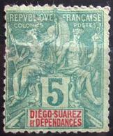 DIEGO-SUAREZ                    N° 28                    NEUF SANS GOMME      (aminci) - Unused Stamps