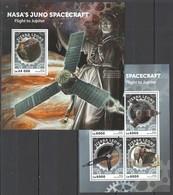 ST418 2016 SIERRA LEONE SPASE NASA'S JUNO SPACECRAFT FLIGHT TO JUPITER KB+BL MNH - Space