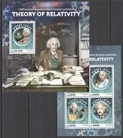 ST424 2016 SIERRA LEONE 100 ANNIVERSARY THEORY OF RELATIVITY EINSTEIN KB+BL MNH - Albert Einstein