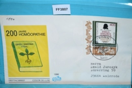 FF3807 FDC 200 Jahre Homöopathie, Samuel Hahnemann, DE 1996 - FDC: Covers