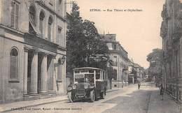 88 .n°  107909  .  Epinal . Autobus .rue Thiers Et Orphelinat . - Epinal