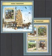 ST459 2016 SIERRA LEONE TRANSPORT HISTORY HORSE TRANSPORT KB+BL MNH - Diligences