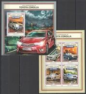 ST462 2016 SIERRA LEONE CARS 50TH ANNIVERSARY OF TOYOTA COROLLA KB+BL MNH - Cars