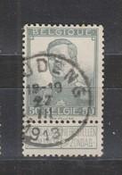 COB 115 Oblitération Centrale HOUDENG - 1912 Pellens