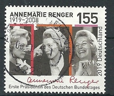 ALEMANIA 2019 - MI 3499 Annemarie Renger - Usati