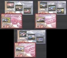 BC004-006 2012 DE GUINEE GUINEA TRANSPORTATION CARS LES VOITURES DU MONDE FRANCE USA JAPAN 3KB+3BL MNH - Cars