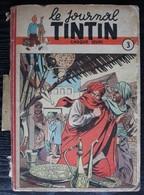 BD TINTIN - Recueil Album 3 - Edition Belge Le Lombard 1948 - Tintin