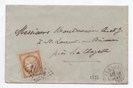 1876 - ENVELOPPE LOCALE De LA CLAYETTE (SAONE ET LOIRE) & GC 1044 - Marcophilie (Lettres)