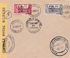 N° 247 N° 248 S / Env Censurée T.P. Ob Douala 24 Juin 1941 - Cameroun (1915-1959)