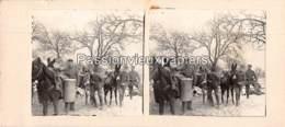 PHOTO STEREO 1914/1918 CORVEE D'EAU ?  SUNDGAU - Frankrijk
