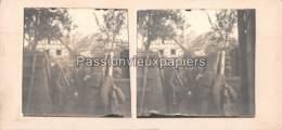 PHOTO STEREO 1914/1918 TRANCHEE Dans Le VILLAGE  SUNDGAU - Frankreich