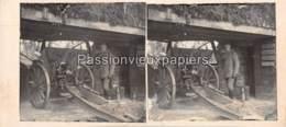 PHOTO STEREO 1914/1918 CANON ARTILLERIE   SUNDGAU - France