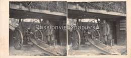 PHOTO STEREO 1914/1918 CANON ARTILLERIE   SUNDGAU - Frankreich