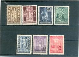 1946 AUTRICHE Y & T N° 653 à 659 ( * ) Les 7 Timbres - 1945-60 Used