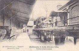 Produzione Di Cinzano - Stabilimento Santa Vittoria D'Alba - 1906    (A-151-190703) - Werbepostkarten