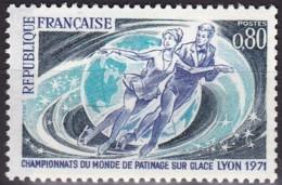 Frankreich, 1971,  1739, MNH **, Weltmeisterschaften Im Eiskunstlauf, - Francia