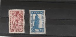 Fezzan  Yvert PA 6 Et 7 * Neufs Avec Charnière Poste Aérienne - Unused Stamps