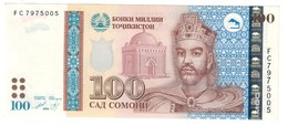 Tajikistan 100 Somoni 1999 AUNC - Tajikistan