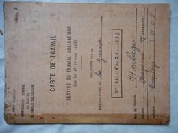 CARTE DE TRAVAIL OBLIGATOIRE 1943 - Documents