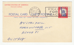 US Postal Stationery Postcard Posted 1956 Jamaica, NY To Austria B191210 - Interi Postali