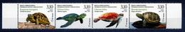 2019 Bosnia And Herzegovina (Mostar, Croatia), Fauna, Turtles, 4 Stamps, MNH - Turtles