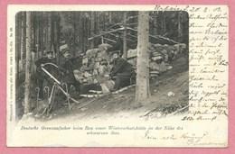 68 - URBEIS - ORBEY - LAC NOIR - Douaniers Allemands Contruisant Une Cabane Près Du Lac Noir - Orbey