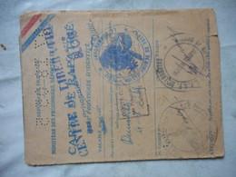 CARTE DE RAPATRIE PRISONNIER DE GUERRE - Documents
