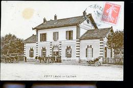 ERVY LE CHATEL LA GARE CP LUXE BRILLANTE AU DOS TAMPON DU 156 DE LIGNE 2 COMPA A TOUL - Ervy-le-Chatel