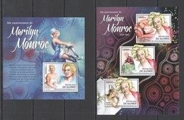 BC068 2012 GUINEE GUINEA CINEMA ACTRESS 50TH ANNIVERSARY MARILYN MONROE 1KB+1BL MNH - Famous Ladies