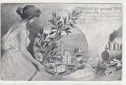 Tirano - Inaugurazione Della Ferrovia Valelinese - 29.6.1902 (ann. In Data !!)      (A-151-190703) - Trains