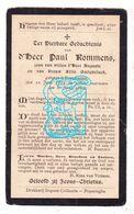 DP Paul Rommens / Goetgheluck 28j. ° Poperinge 1872 † 1900 - Images Religieuses