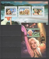 BC093 2012 GUINEE GUINEA FAMOUS PEOPLE MARILYN MONROE 1KB+1BL MNH - Actors