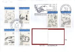 LOT 339  YT  2681/2686  S/L FRANCE OBL FLAMME NIEDERBRONN LES BAINS  3/6/03 - Storia Postale