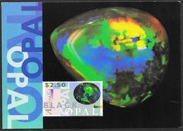 Australia/Australie: Intero, Stationery, Entier, Opale, Opal - Minerali